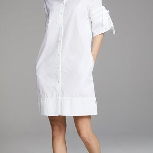 Victoria Beckham Gathered Sleeve Shirtdress